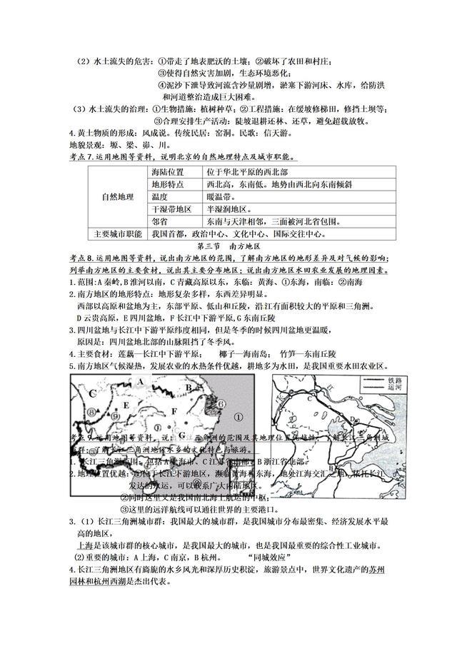人教版八年级下册地理知识点提纲