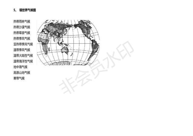 初中地理常考识图填空题大汇编