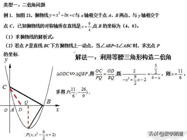 初中数学九年级:圆、二次函数重难点题型解析与点拨