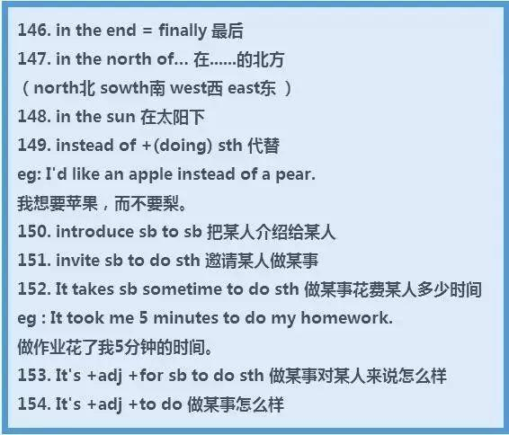 学习技巧|中小学考点,200条常考的英语固定搭配