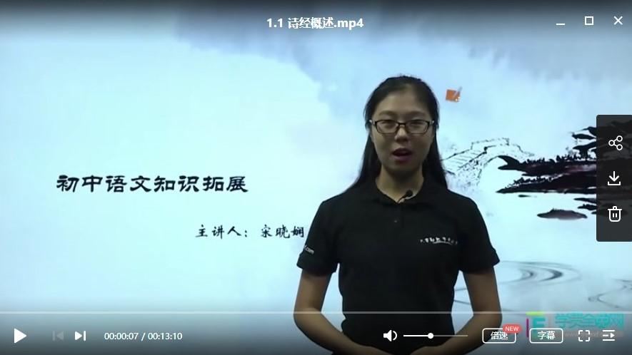初中语文学习资料-中学语文课外拓展视频教程