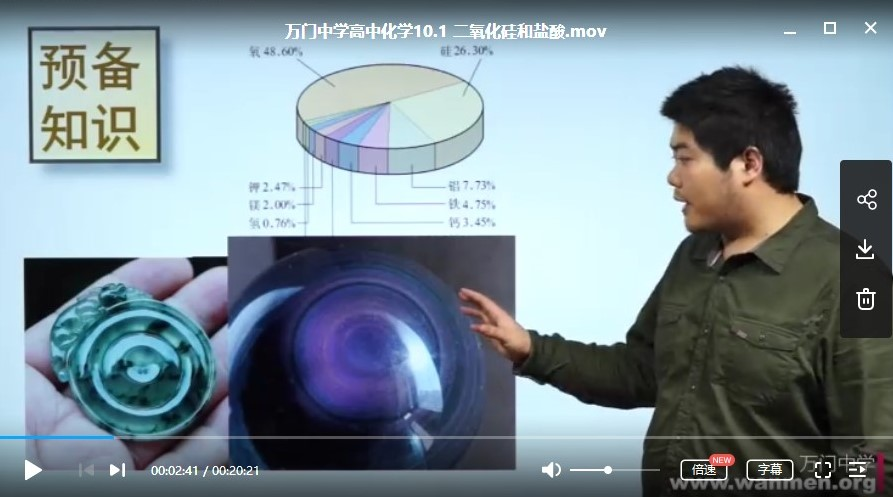 高中化学学习资料-高中化学必修一全套视频教程