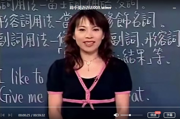 高中英语学习资料-高中英语语法全套视频教程