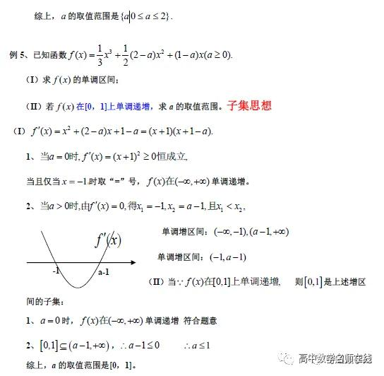 导数各类题型方法总结