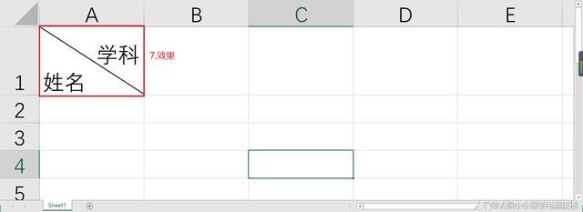 「Excel」Excel 斜线表头单元格你会制作了吗?