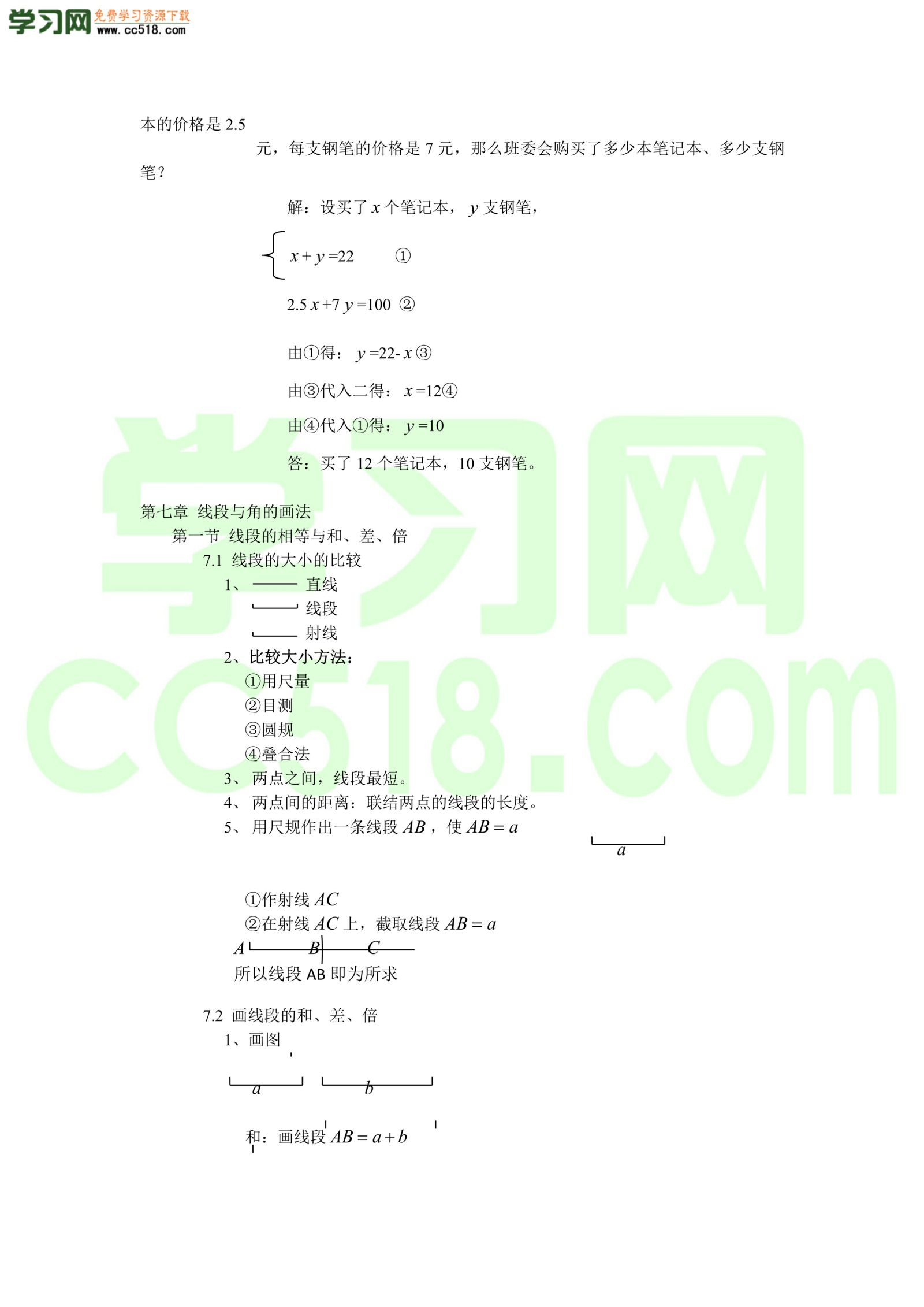 六年级上册数学素材-数学知识汇总(沪教版)