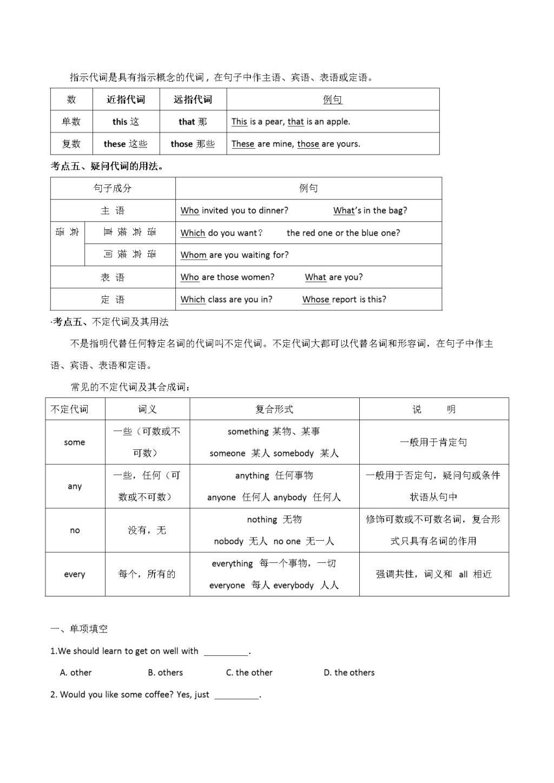 2020年中考英语语法考点突破训练(文件编号:20122309)