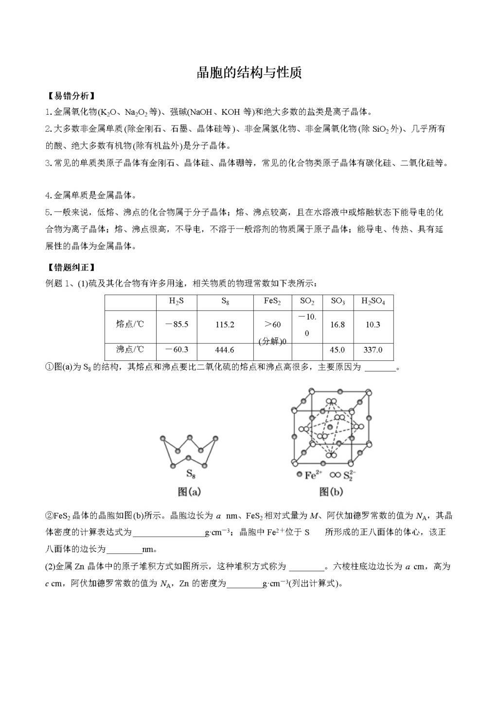 2021年高三化学一轮复习易错题总结(二)(文件编号:21011302)