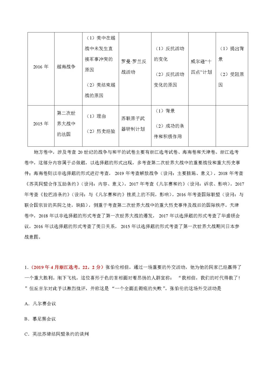 2021年高考历史选修部分提分攻略(文件编号:21011309)